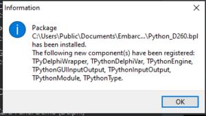Python4Delphi Instalación 6